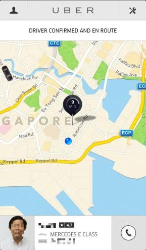 Uber iPhone app